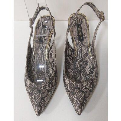 Sapato Dolce & Gabbana Couro Preto/Bege