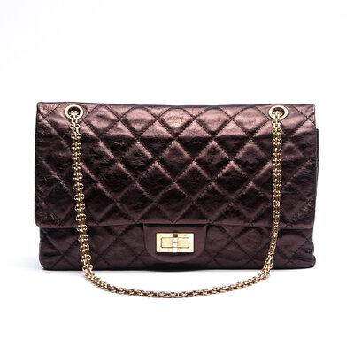 Bolsa Chanel Reissue 277 Double Flap Bronze