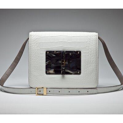 Bolsa Tom Ford em croco branca