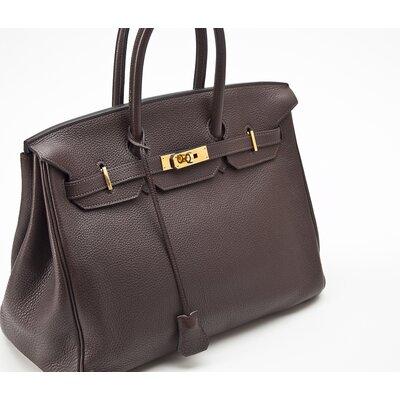 Bolsa Hermès Birkin 35 clemence marrom