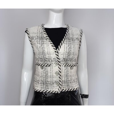 Colete Chanel Tweed B&W
