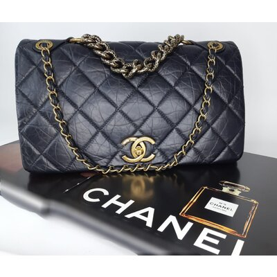 Bolsa Chanel Paris Bombay Pondicherry Preta