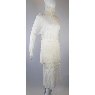 Conjunto com Saia Chloé Renda Off White