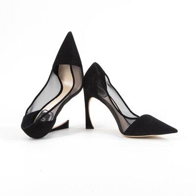 Sapato Dior Cap Toe em Camurça Preto