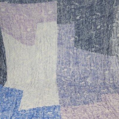 Lenço Louis Vuitton cashmere do azul ao bege