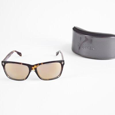 Óculos Alexander McQueen espelhado gold/tartaruga