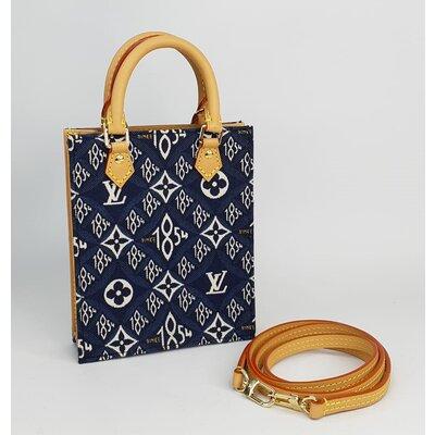 Crossbody Louis Vuitton Petit 1854 Sac Plat Monograma Jacquard Azul