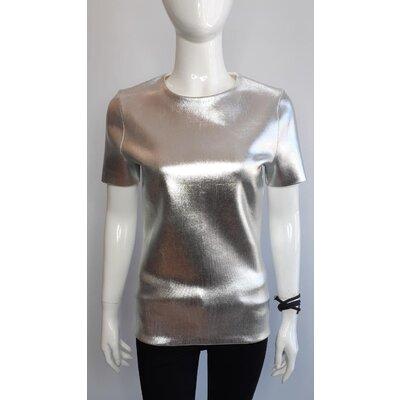 Top Christian Dior Polyester Metal Prateado