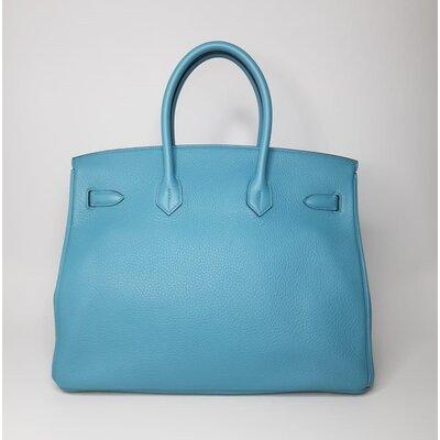 Bolsa Hermès Birkin 35 Togo Blue Atoll