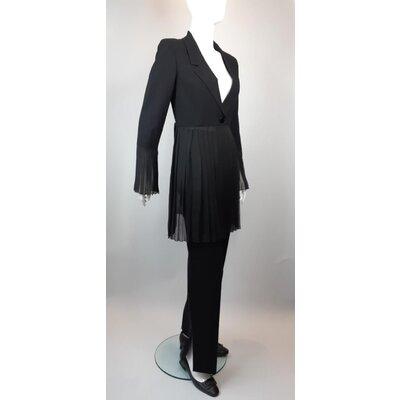 Terno Chanel Lã Seda Musseline Preto