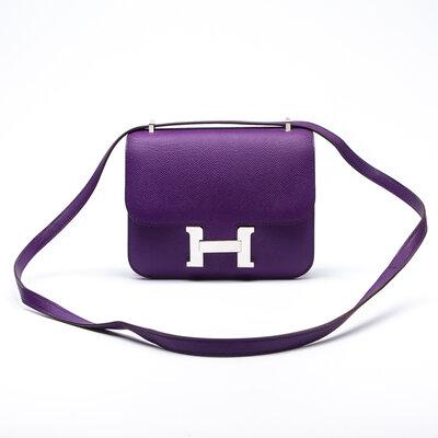 Bolsa Hermès Constance 18 Epsom Roxa