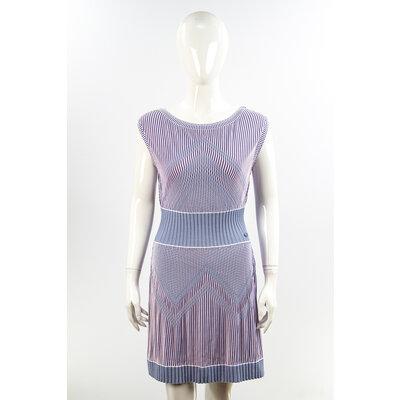 Vestido Chanel Azul/Rosa