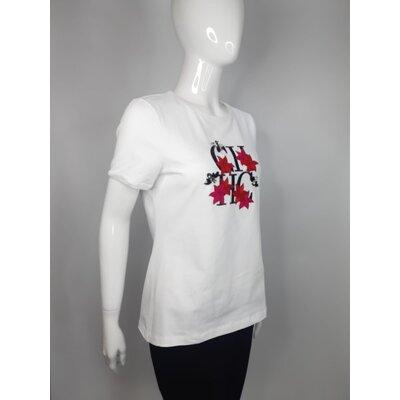 T-Shirt Carolina Herrera em Cotton Branca