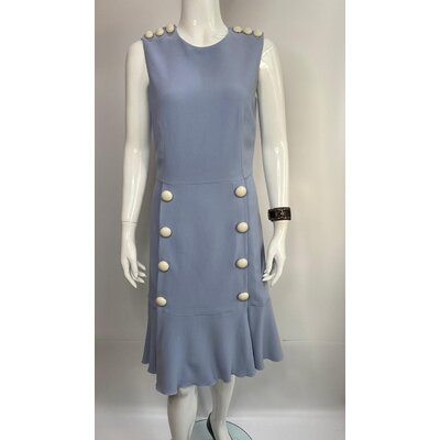 Vestido Dolce & Gabbana em Crepe Azul Claro