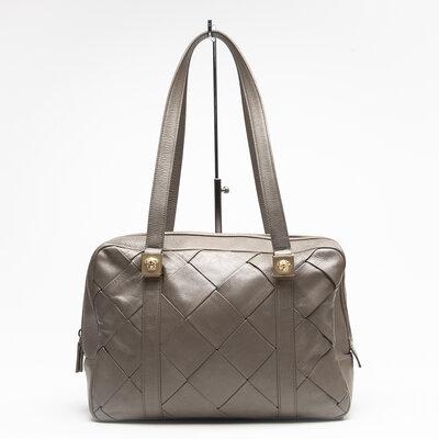 Bolsa Versace em couro kaki