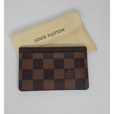 Porta Cartão Louis Vuitton Damier Ebene Monograma