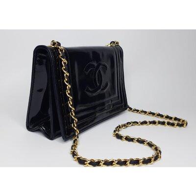Bolsa Chanel Vintage em Verniz Preta