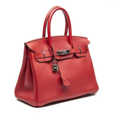 Bolsa Hermès Birkin 30 Epsom Vermelha