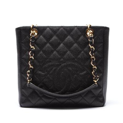 Bolsa Chanel Petit Shopper S Caviar Preta