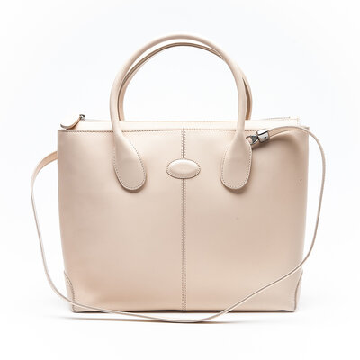 Bolsa Tod'S D-Styling em Couro Nude