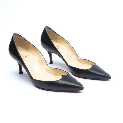 Sapato Louboutin Couro Preto