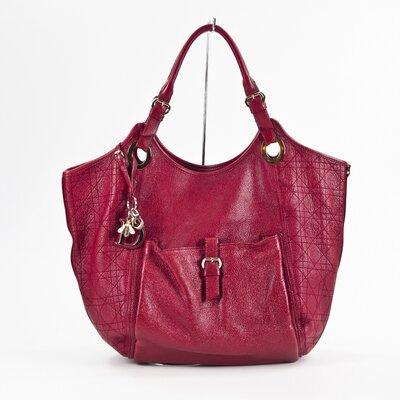 Bolsa Christian Dior em couro vermelha