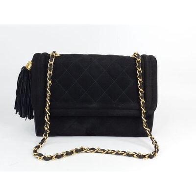 Bolsa Chanel Vintage Camurça Preta