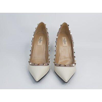 Sapato Valentino Couro Creme, Bege