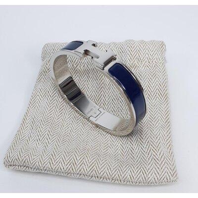 Pulseira Hermès Clic H Azul Marinho