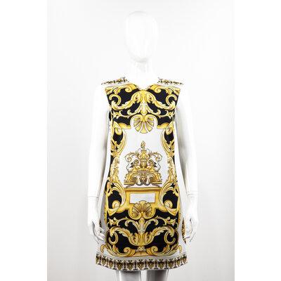 Vestido Versace Seda Estampado com Amarelo