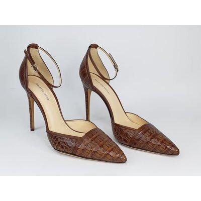 Sapato Alexandre Birman Croco Marrom