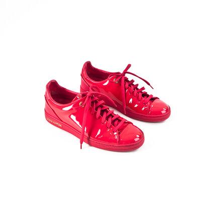 Sneakers Louis Vuitton em verniz pink
