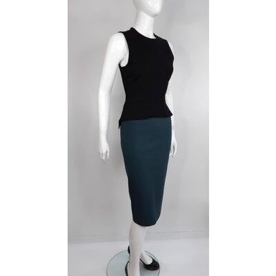 Vestido Stella McCartney Cotton Preto e Azul Petróleo