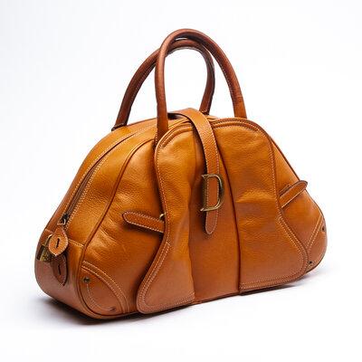 Bolsa Dior Saddle Bowler Couro Caramelo