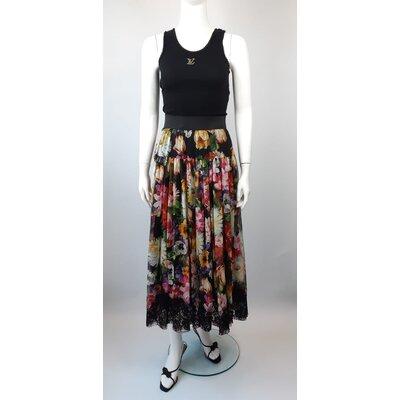 Saia Longa Dolce & Gabbana em Musseline e Seda Estampa Floral