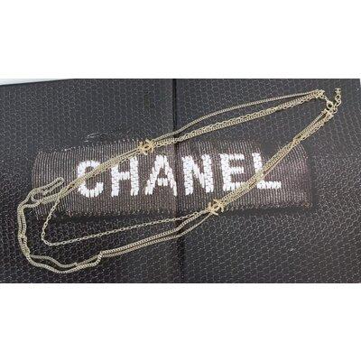 Colar Chanel Bijouteria CC Dourado