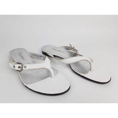 Rasteirinha Dolce & Gabbana Couro Branca