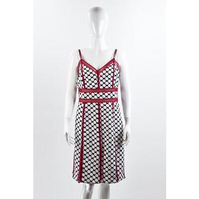 Vestido Reinaldo Lourenço Poa B/W e vermelho