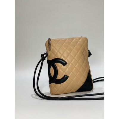 Crossbody Chanel Cambon Bege/Preta