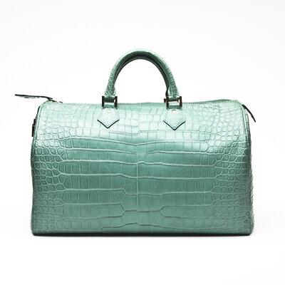 Bolsa Louis Vuitton Speedy Crocodilo Verde
