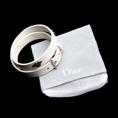 Pulseira Dior Couro Branca