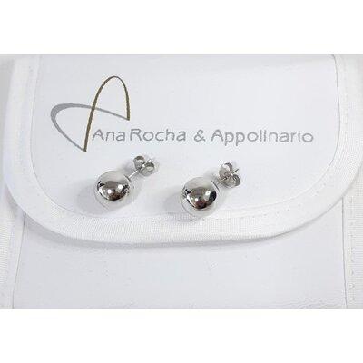 Brinco Ana Rocha & Appolinario Bola em ouro Branco