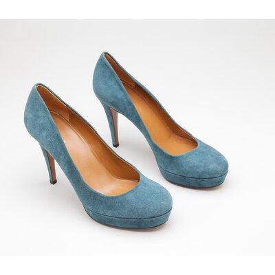 Sapato Gucci em camurça azul bic