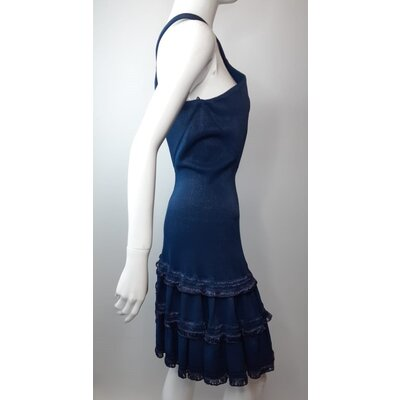 Vestido Alaia Sthrech Azul Marinho