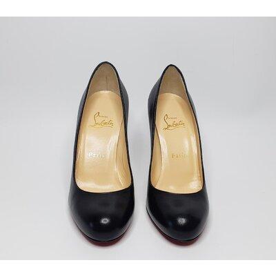 Sapato C. Louboutin Couro Preto