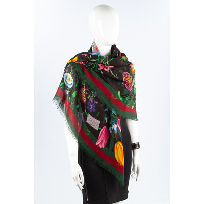 Echarpe Gucci Tecido Estampado