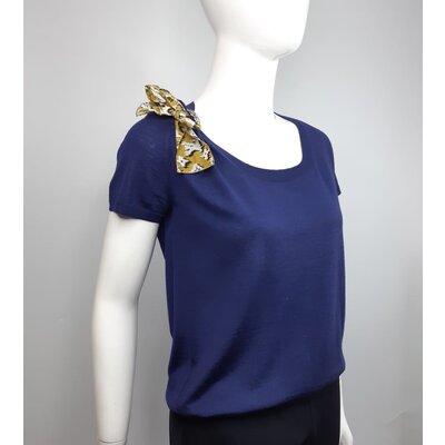 Blusa Louis Vuitton Cotton Azul Marinho