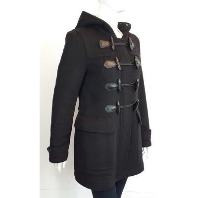 Trench Coat Burberry Lã Cashmere Preto
