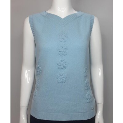 Top Chanel Cashmere Azul