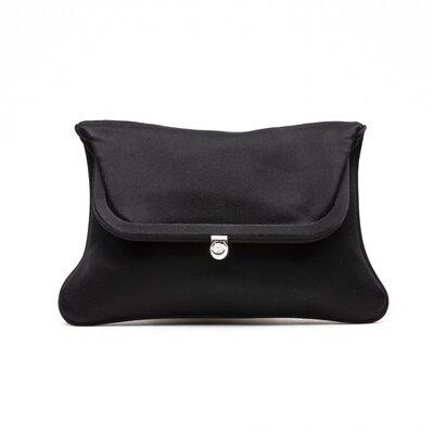 Clutch Versace em cetim preta